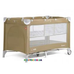 Манеж-кровать Carrello Piccolo+ Caramel Beige со вторым дном CLR-9201/1