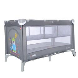 Манеж-кровать Carrello Piccolo+ Ash Grey со вторым дном CRL-9201/2