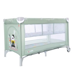 Манеж-кровать Carrello Piccolo+ Cameo Green со вторым дном CRL-9201/2