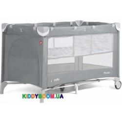 Манеж-кровать Carrello Piccolo+ Ash Grey со вторым дном CRL-9201/1