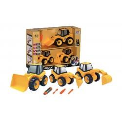 Игровой набор-конструктор Can Xin Long бульдозер, экскаватор, экскаватор-отбойный молоток CXL200-30E