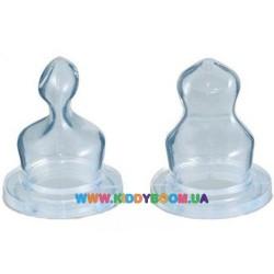 Соска для бутылочки силиконовая анатомическая для каши 2 шт. Canpol 18/128