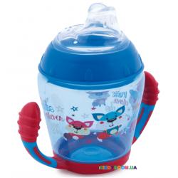 Кружка непроливайка с мягким носиком Toys, синяя, 230 мл. Canpol 56/502_blu