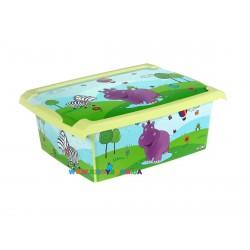 Ящик для игрушек Hippo 10 л Prima Baby 271378E