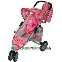 Трехколесная кукольная коляска с сумочкой Baofeng 015