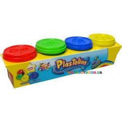 Набор массы для лепки 4 цвета Plastelino NOR2649