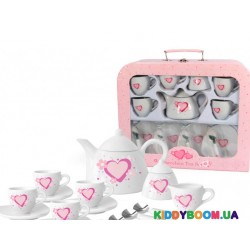 Набор фарфоровой посуды Champion игровой чайный Сердечко CH12019