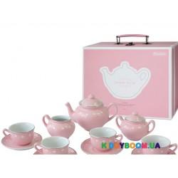 Набор фарфоровой посуды Champion игровой чайный розовый CH12064