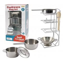 Набор посуды Кухонный из нержавеющей стали 8 единиц Champion CH21038