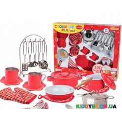 Набор посуды игровой Champion Делюкс кухонный  CH51015-RED