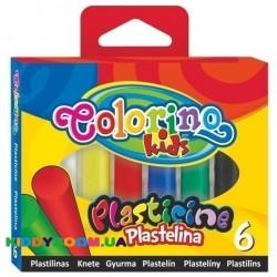 Пластилин Colorino 13871PTR, 6 цветов