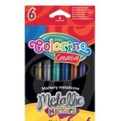 Набор маркеров металлизированных 6 цв. Colorino 32582PTR