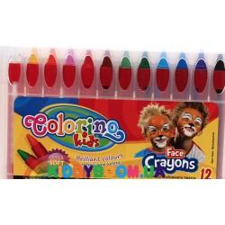 Мелки для лица (12 цветов) Colorino 32650PTR