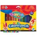 Карандаши цветные Jumbo с точилкой Colorino 32971PTR, 20 цветов