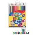 Карандаши цветные JUMBO (12 цветов) с точилкой Colorino 33107PTR
