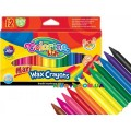 Мелки восковые Maxi Colorino 34722PTR, 12 цветов