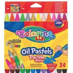 Карандаши пастельные масляные 24 цв., в пластиковом контейнере Colorino 36085PTR