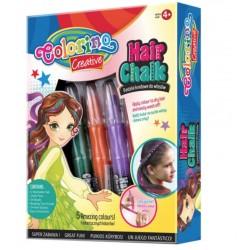Мел для волос, классические оттенки в наборе 5 цветов Colorino 37015PTR