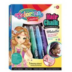 Мел для волос металлизированные оттенки в наборе 5 цветов Colorino 37046PTR