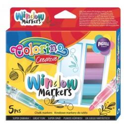 Маркеры для рисования на стекле 5 цветов Colorino 39637PTR