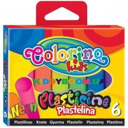 Пластилин Neon Colorino 42666PTR, 6 цветов