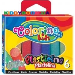 Пластилин с блестками Colorino 42697PTR, 6 цветов