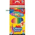 Карандаши треугольные цветные Colorino 51798PTR, 12 цветов