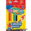 Карандаши треугольные цветные Jumbo Colorino 15516PTR, 6 цветов