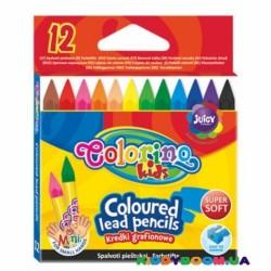 Мелки цветные Colorino 57301PTR, 12 цветов