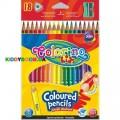 Карандаши треугольные цветные с точилкой Colorino 57431PTR, 18 цветов
