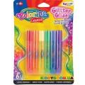 Клей Rainbow с блестками Colorino 68796PTR, 10.5 мл, 6 цветов