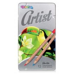 Карандаши цветные Premium Artist 12 цветов в металлической коробке Colorino 83256PTR