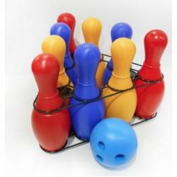 Игровой набор Кегли Радуга (9 шт) Colorplast 0732