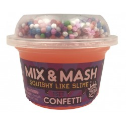 Лизун Slime - Mix&Mash Confetti, 180 г Compound Kings 110292
