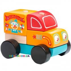 Деревянная машинка Странствующий цирк LM-7 Cubika 13166