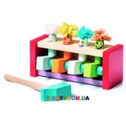 Деревянная игрушка Cubika Клоуны - попрыгунчики 13746