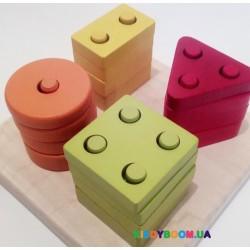 Деревянная развивающая игрушка Геометрический сортер Cubika 13791