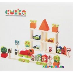 Деревянный конструктор Cubika Городок для мальчиков 13913