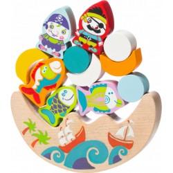Деревянная игрушка Балансир с рыбками и пиратами Cubika 13920