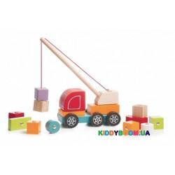 Деревянная Машинка Cubika Авто-кран 13982