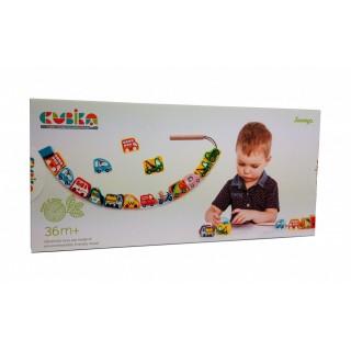 Деревянная игрушка-шнуровка Cubika Машинки-Силянки 14316