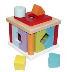 Деревянная развивающая игрушка Сортер LS-5 Cubika 14378