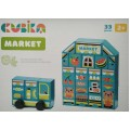 Деревянная игрушка Конструктор Market LDK2 Cubika 15122