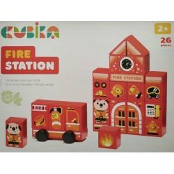 Деревянная игрушка Конструктор Fire station LDK3 Cubika 15139