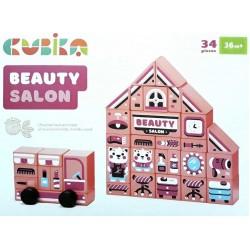 Деревянный конструктор Beauty salon Cubika 15146