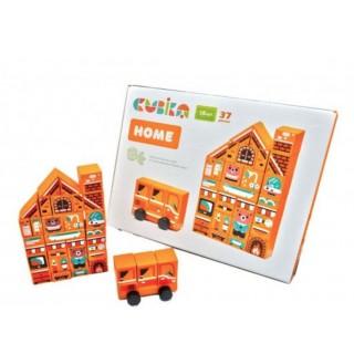 Деревянная игрушка Конструктор Home LDK5 Cubika 15153