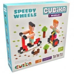 Деревянный конструктор Быстрые колеса Cubika World 15290