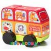 Деревянный автобус Веселые звери Cubika LM-10