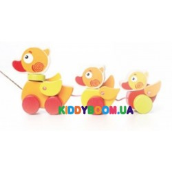 Деревянная игрушка-каталка Путешествующие уточки Cubika 13616