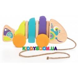 Деревянная игрушка-каталка Рыбка Cubika 13630